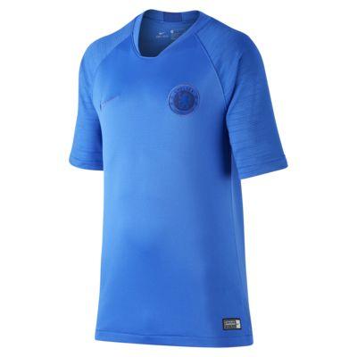 Chelsea FC Strike Older Kids' Short-Sleeve Football Top