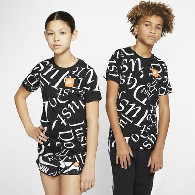 T-shirt med tryck Nike Sportswear för ungdom