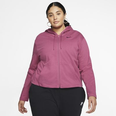 Nike Sportswear Dessuadora amb caputxa i cremallera completa (talles grans) - Dona
