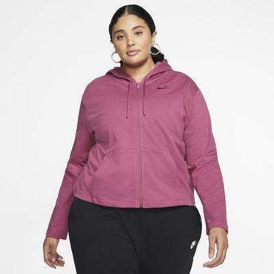 Nike Sportswear Sudadera con capucha y cremallera completa (Talla grande) - Mujer