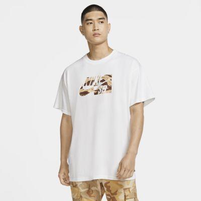 Skateboard-t-shirt Nike SB med kamouflagemönster för män