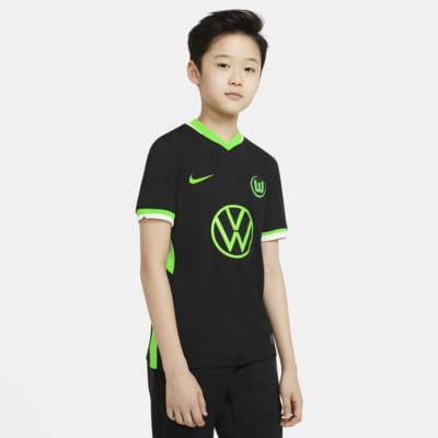 VfL Wolfsburg 2020/21 Stadium Away-fodboldtrøje til store børn