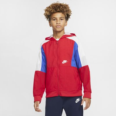 Nike Sportswear Jaqueta de teixit Woven amb cremallera completa - Nen