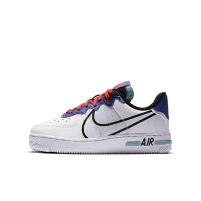 Nike Air Force 1 React sko til store børn