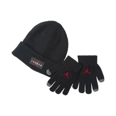 Jordan Set aus Beanie und Handschuhen für ältere Kinder