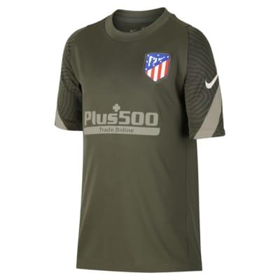 Atlético de Madrid Strike Kurzarm-Fußballoberteil für ältere Kinder