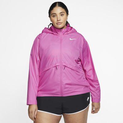 Nike Essential Damen-Laufjacke mit Kapuze (große Größe)