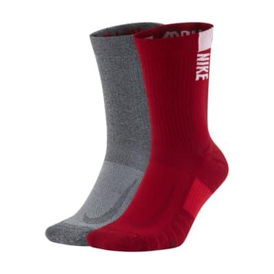 Nike College Multiplier (Georgia) Crew Socks (2 Pairs)