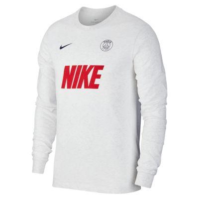 Langærmet Paris Saint-Germain-fodbold-T-shirt til mænd