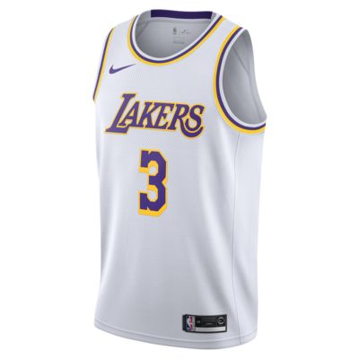 洛杉矶湖人队 (Anthony Davis) Association Edition Nike NBA Swingman Jersey 男子球衣