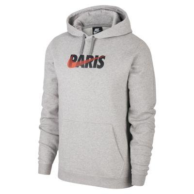 Nike Sportswear Club (Paris) fleece-hættetrøje med print til mænd