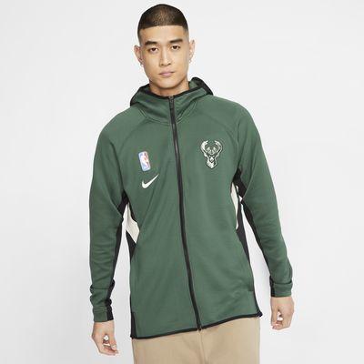 Milwaukee Bucks Nike Therma Flex Showtime NBA-hoodie voor heren
