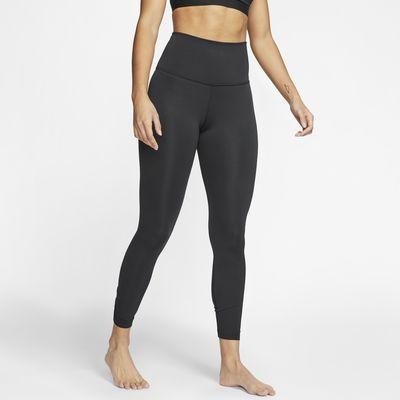 Nike Yoga geraffte 7/8-Tights für Damen