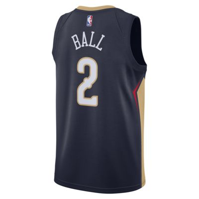 Lonzo Ball Pelicans Icon Edition Nike NBA Swingman Jersey