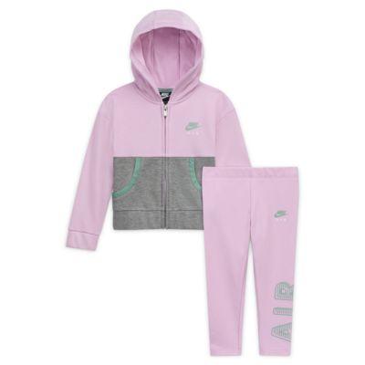 Conjunto de leggings y sudadera con capucha para bebé Nike Air
