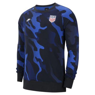Sudadera de fútbol de cuello redondo y manga larga de tejido Fleece para hombre U.S.