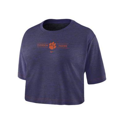 Nike College Dri-FIT (Clemson) Women's Cropped T-Shirt