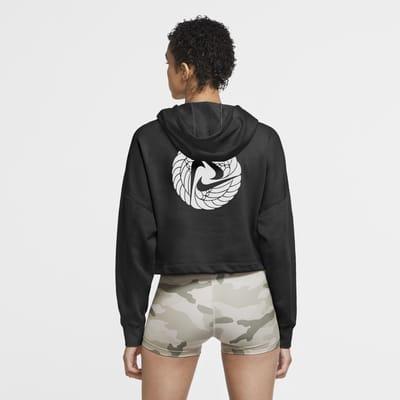Женская укороченная худи для тренинга Nike Dri-FIT Icon Clash