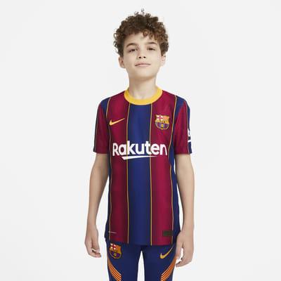 Camiseta de fútbol para niños talla grande Vapor Match de local del FC Barcelona 2020/21
