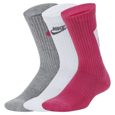 Nike Everyday Older Kids' Cushioned Crew Socks (3 Pairs)