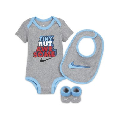 Nike Baby Bodysuit, Bib and Booties Set