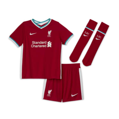 Liverpool Fc 2020 21 Home Little Kids Soccer Kit Nike Com
