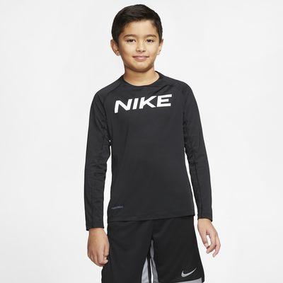 Nike Pro-langærmet træningsoverdel til store børn (drenge)