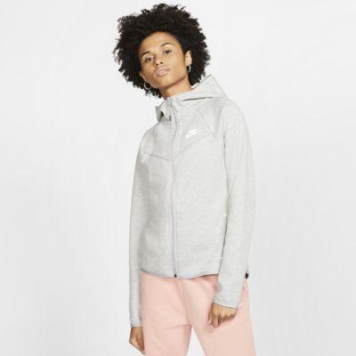 เสื้อมีฮู้ดซิปยาวผู้หญิง Nike Sportswear Windrunner Tech Fleece