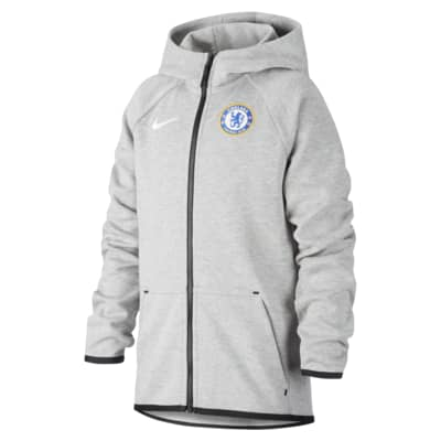 Chelsea FC Tech Fleece Older Kids' Full-Zip Football Hoodie