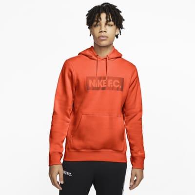 เสื้อมีฮู้ดฟุตบอลผ้าฟลีซผู้ชายแบบสวม Nike F.C.