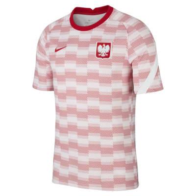 Prenda para la parte superior de fútbol de manga corta para hombre Polonia