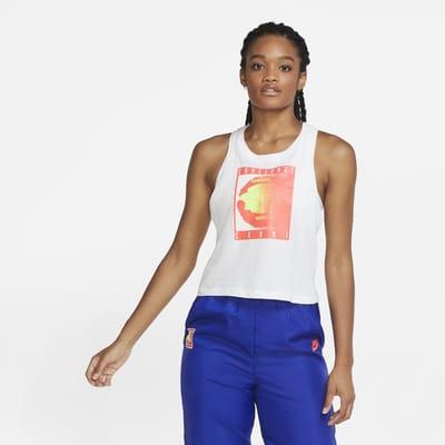 NikeCourt Korte tennistanktop voor dames