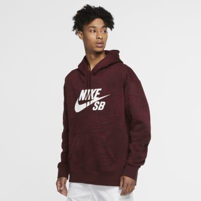เสื้อสเก็ตบอร์ดมีฮู้ดผู้ชายพิมพ์ลาย Nike SB