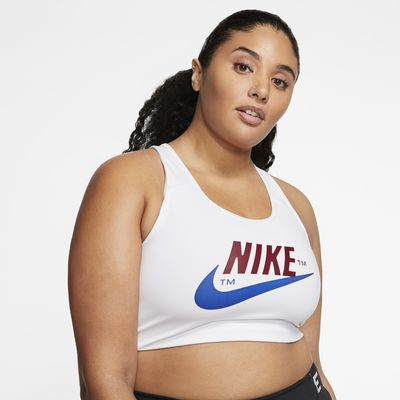 Nike Swoosh Icon Clash Women's Medium-Support Sports Bra (Plus Size)
