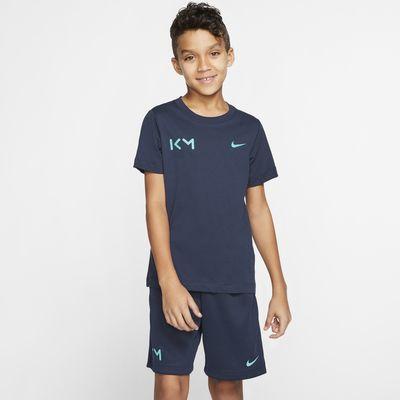 Kylian Mbappé Fußball-T-Shirt für ältere Kinder