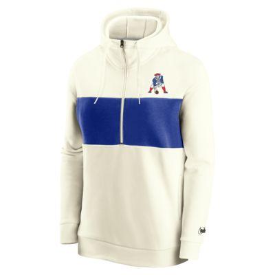 Nike Historic (NFL Patriots) Women's 1/2-Zip Fleece Pullover