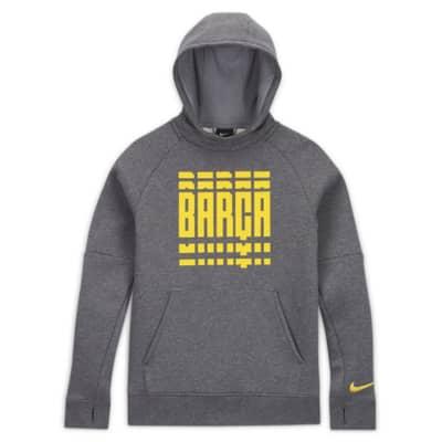 Fotbollshuvtröja i fleece FC Barcelona för ungdom