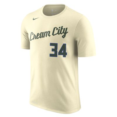 Giannis Antetokounmpo Bucks City Edition Nike Dri FIT NBA T Shirt für Herren