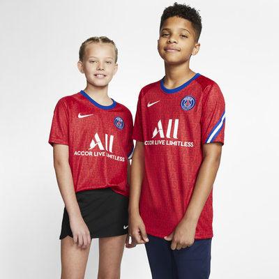 Paris Saint-Germain Kurzarm-Fußballoberteil für ältere Kinder
