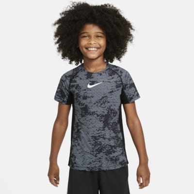 Nike Pro Older Kids' (Boys') Printed Training Top