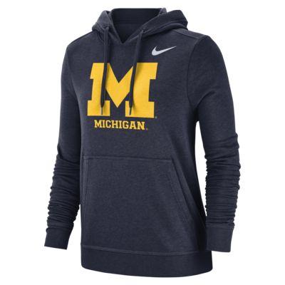 Nike College Club Fleece (Michigan) Women's Pullover Hoodie