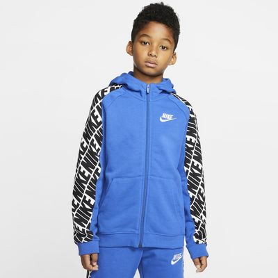 Sweat à capuche à zip intégral en molleton Nike Sportswear pour Garçon plus âgé