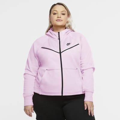 Sweat à capuche et zip Nike Sportswear Tech Fleece Windrunner pour Femme (grande taille)