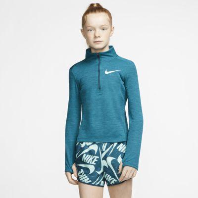 Nike Hardlooptop met halflange rits en lange mouwen voor meisjes