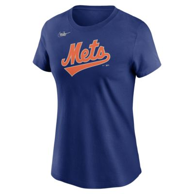 Playera para mujer Nike Cooperstown Wordmark (MLB New York Mets)