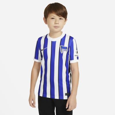 Hertha BSC 2020/21 Stadium Home-fodboldtrøje til store børn