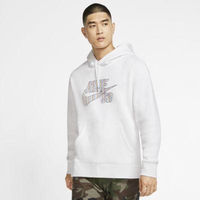 Nike SB Dessuadora amb caputxa de ratlles de skateboard - Home