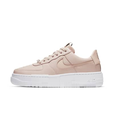 nike air force 1 beige and pink