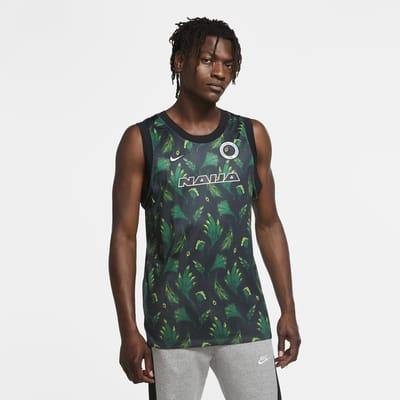 Camisola de basquetebol sem mangas Nigéria para homem