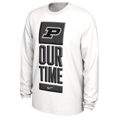 Nike College Dri-FIT (Purdue) Men's Long-Sleeve T-Shirt